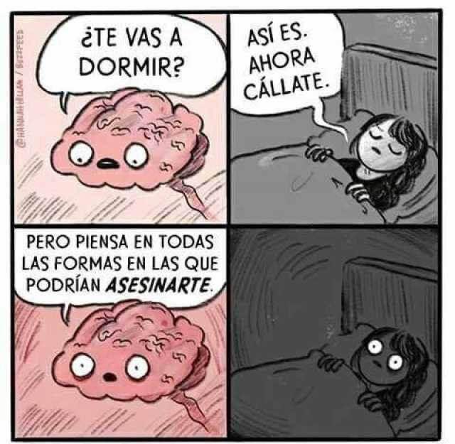 Tu cerebro cuando tratas de dormir