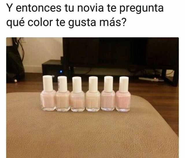Cuando tu novia te pregunta por colores