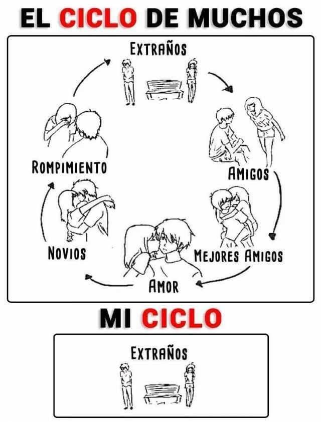 El ciclo de muchos vs mi ciclo
