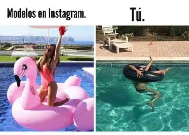 Modelos en Instagram vs yo