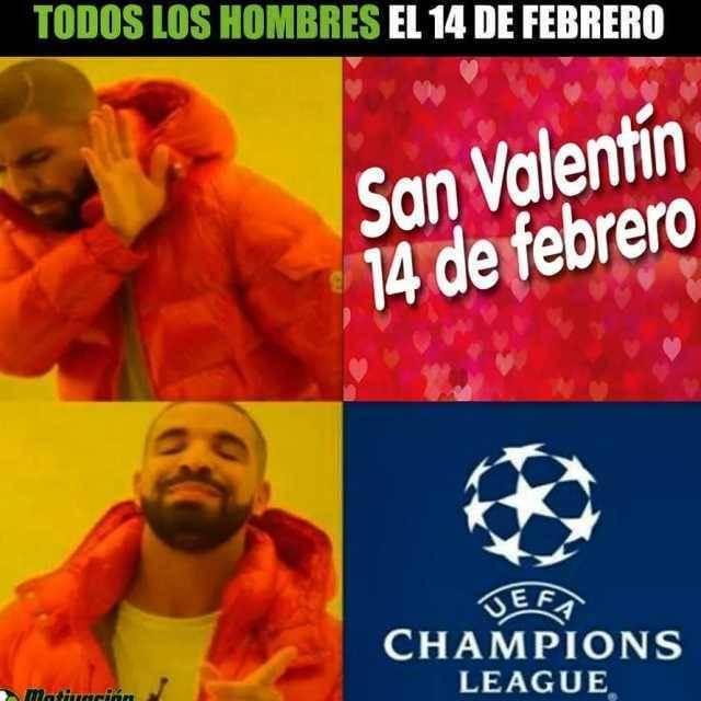 Todos los hombres el 14 de febrero