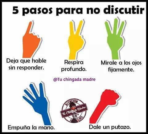 5 pasos para no discutir