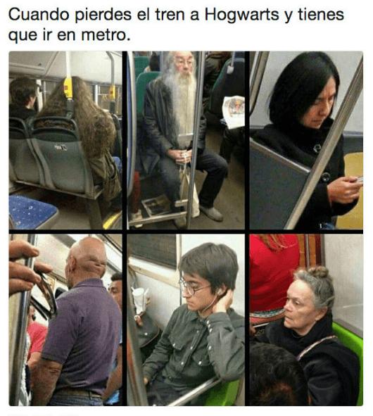 Cuando pierdes el tren a Hogwarts
