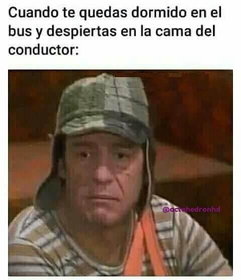 Cuando te quedas dormido en el bus