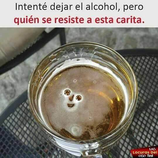 Trate de dejar el alcohol