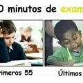 60 minutos en un examen