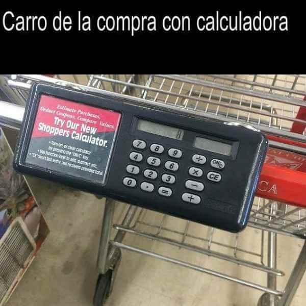 Carro de compra con calculadora