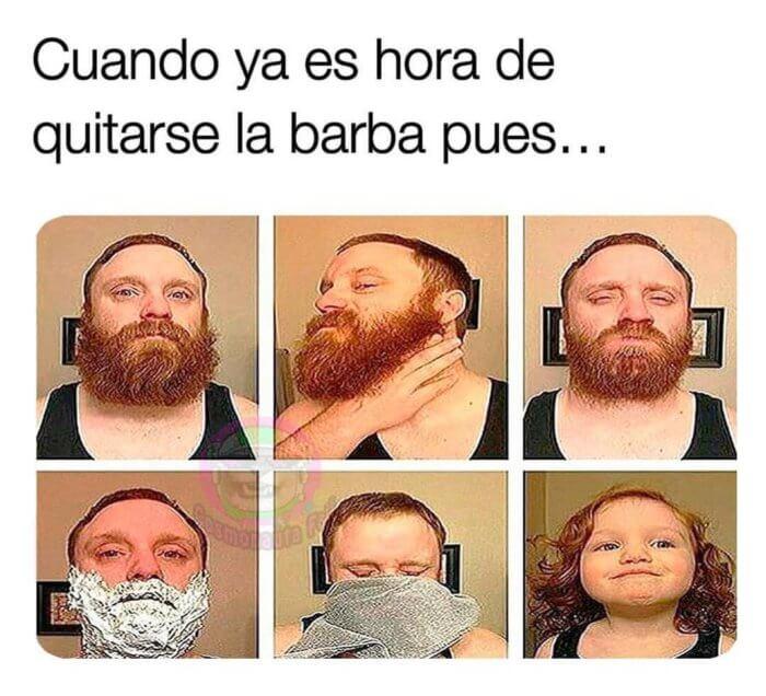 Cuando llega la hora de quitarse la barba