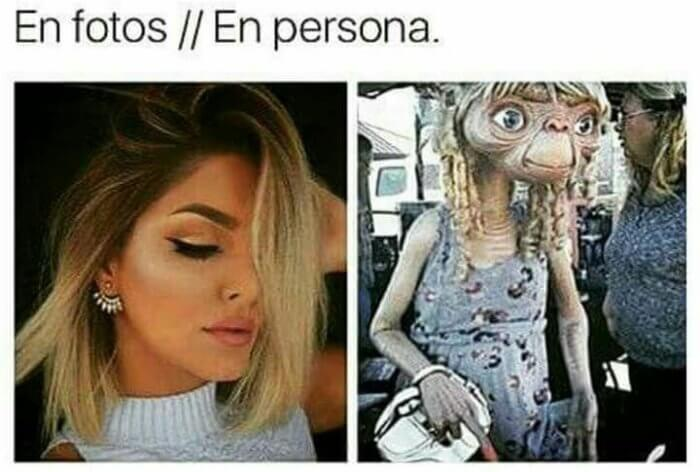 en fotos vs en persona