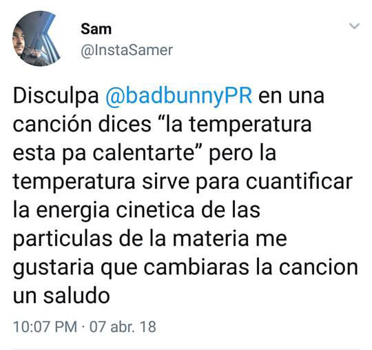 Esperemos que Bad Bunny cambie su cancion