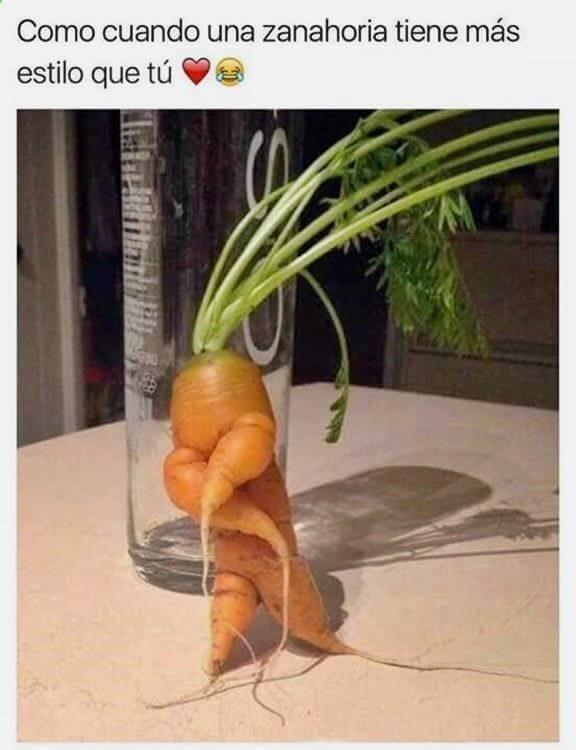 Esta zanahoria tiene mas estilo que tu