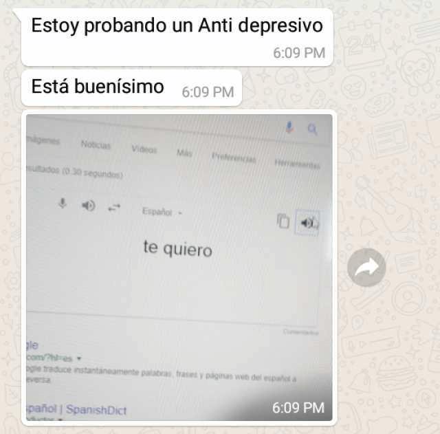 Estoy probando un nuevo antidepresivo