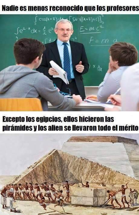 Nadie es menos reconocido que los profesores