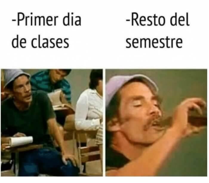 Primer dia vs resto del semestre