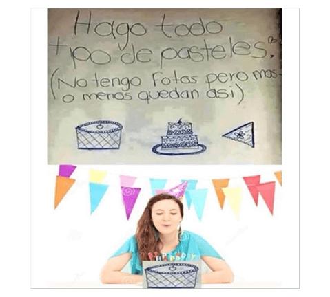 Se hacen todo tipo de pasteles