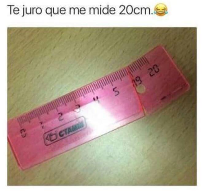 Te lo juro mide 20 centimetros