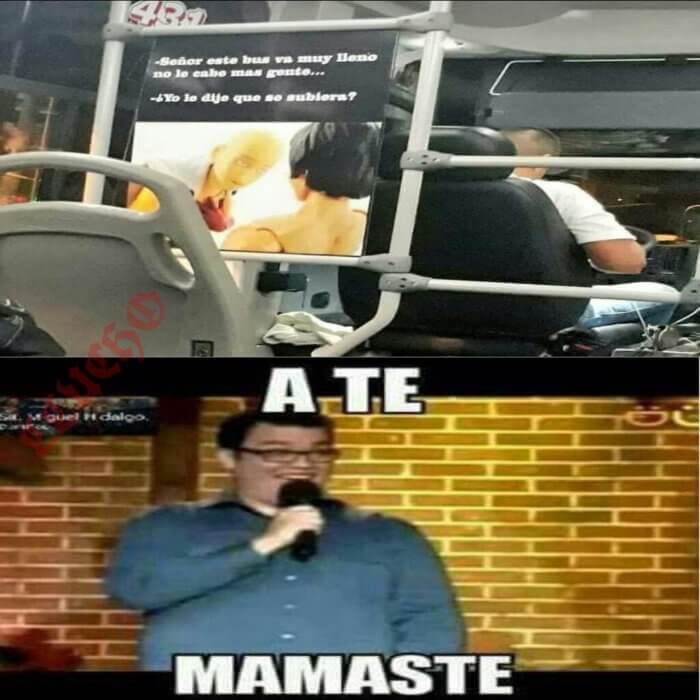 Cuando el bus va muy lleno