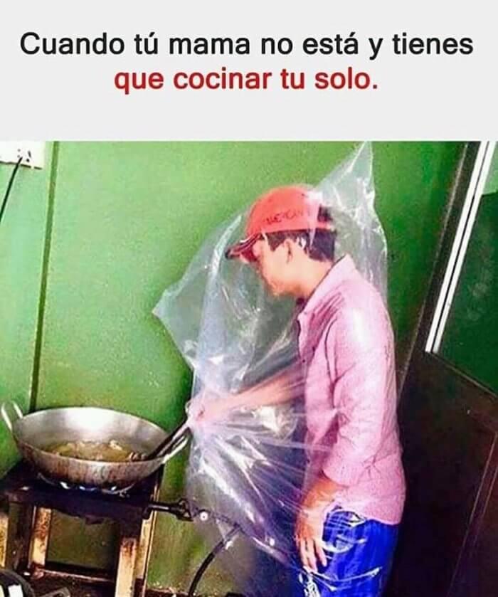 Cuando tienes que cocinar solo