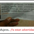 Mujeres considerense advertidas