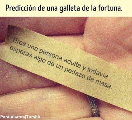 Prediccion de una galleta de la fortuna