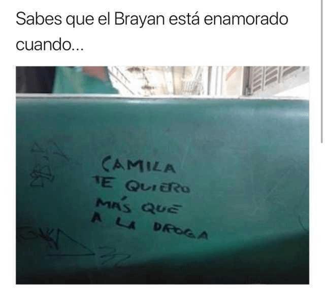 Sabes que el Brayan esta enamorado cuando