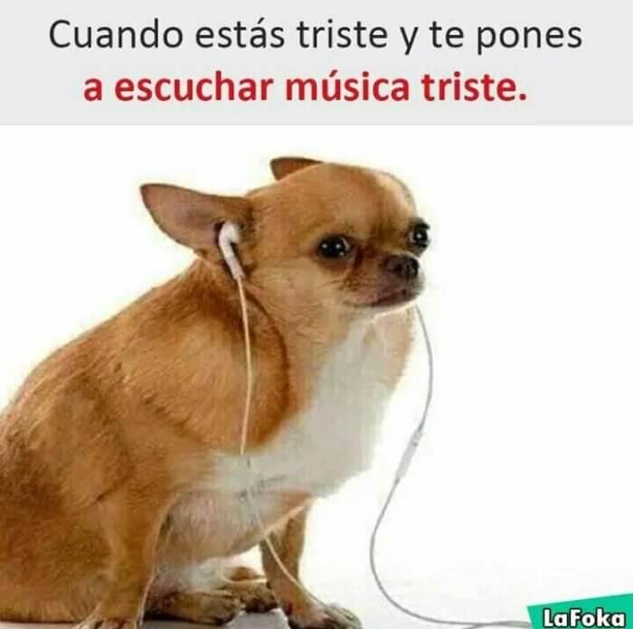 Cuando estas triste y escuchas musica triste