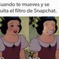 Cuando se quita el filtro de Snapchat