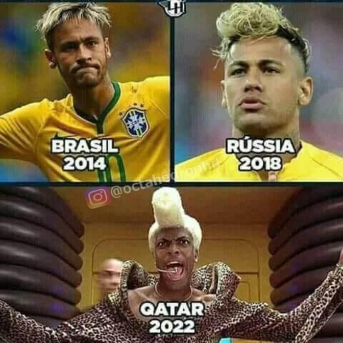 Neymar en los mundiales