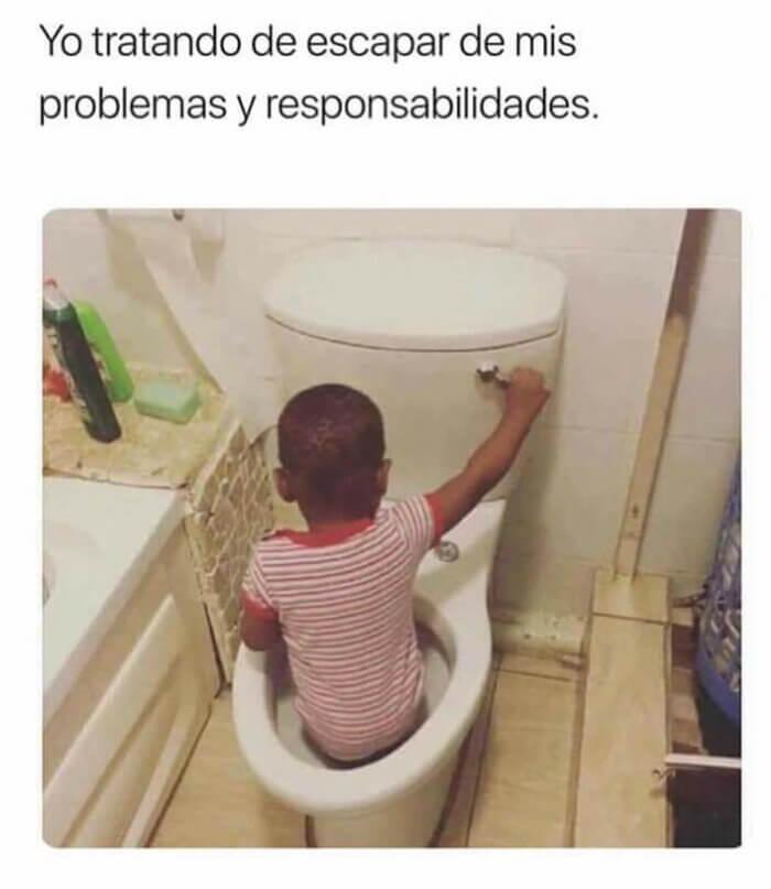 Tratando de escapar de mis problemas