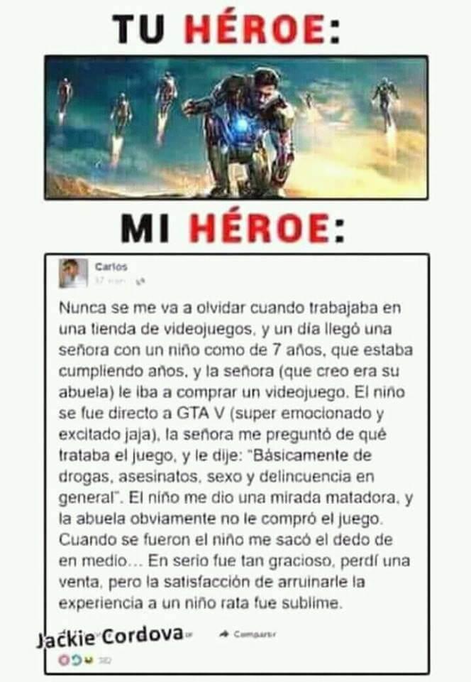 Tu heroe vs el mio