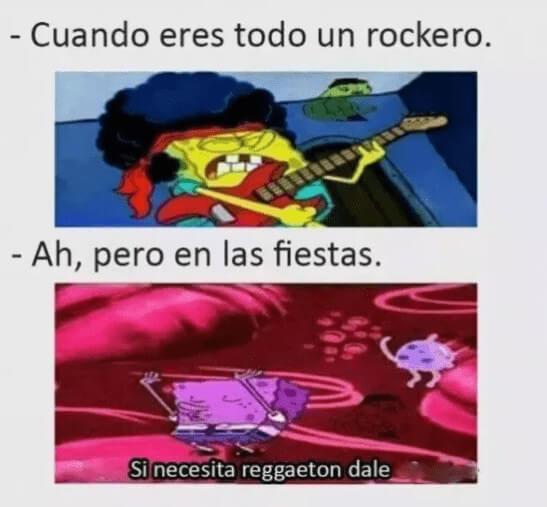 Cuando eres todo un rockero