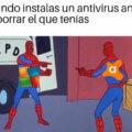 Cuando instalas un antivirus antes de borrar el que tenias