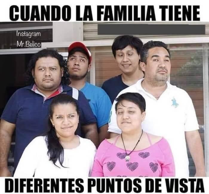 Cuando la familia tiene diferentes puntos de vista