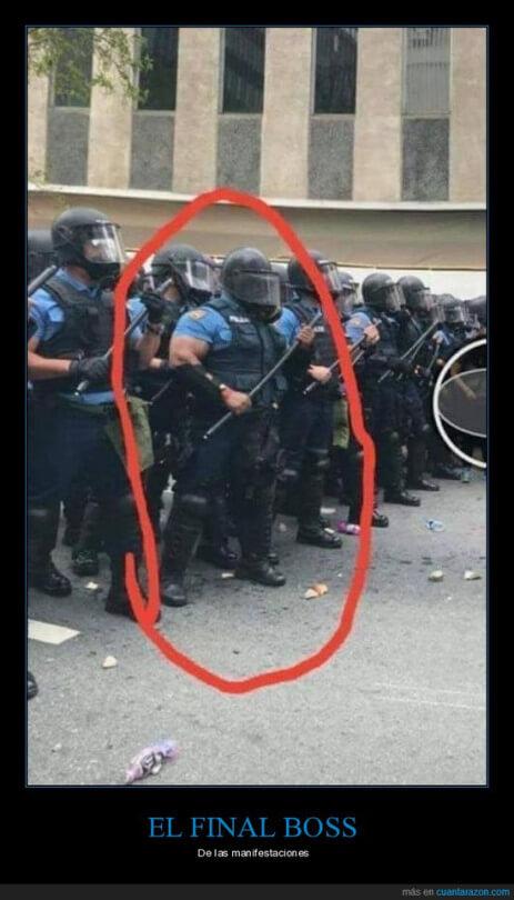 El jefe final de las protestas