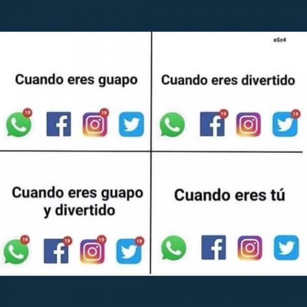 Redes sociales segun como eres