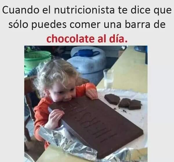 Solo una barra de chocolate al dia