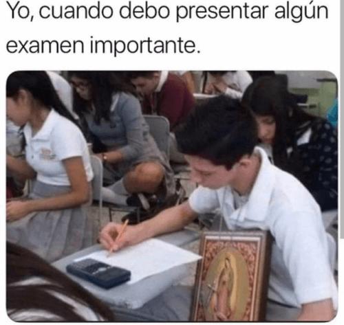 Cuando debo presentar un examen importante