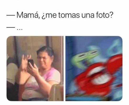 Cuando le pides a tu madre que te tome una foto