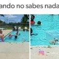Cuando no sabes nadar