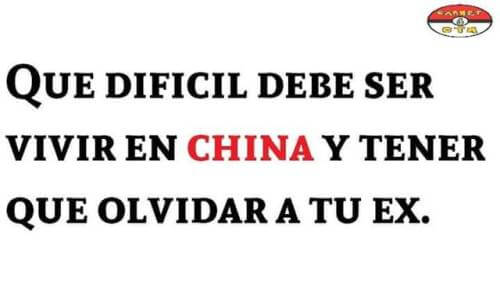 Debe ser dificil vivir en China