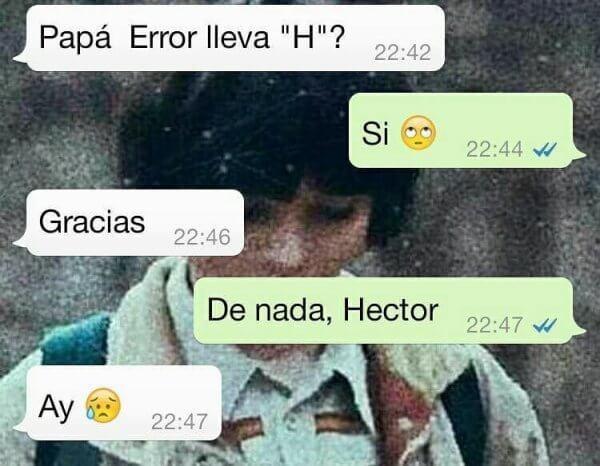 Error lleva H