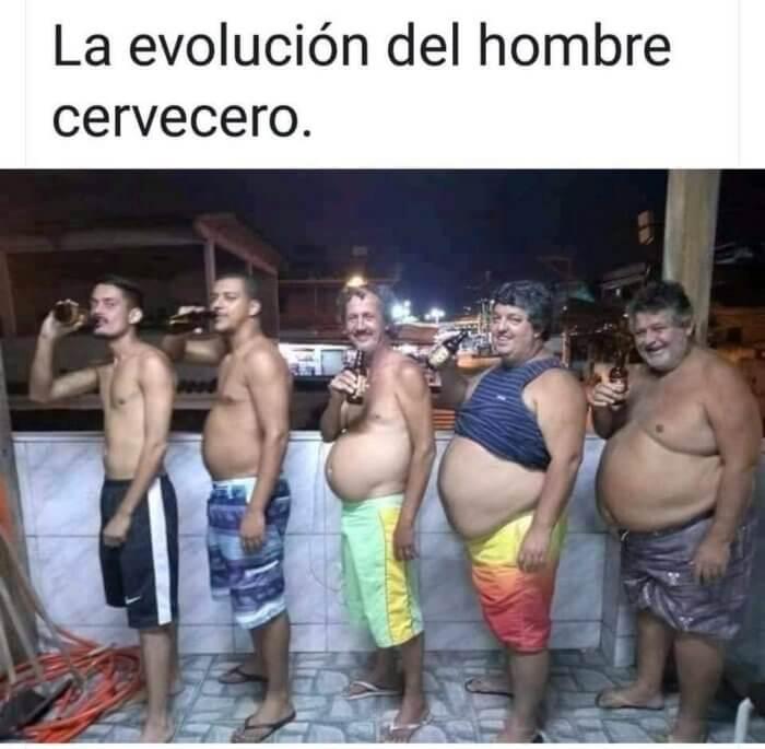 La evolucion del bombre cervecero