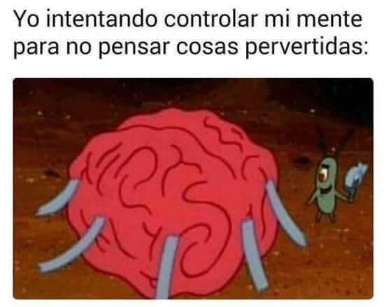Yo tratando de controlar mi mente