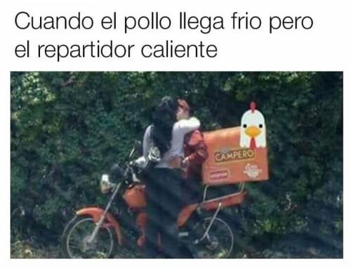 609385b149 Cuando el pollo llega frío - QueComico.com