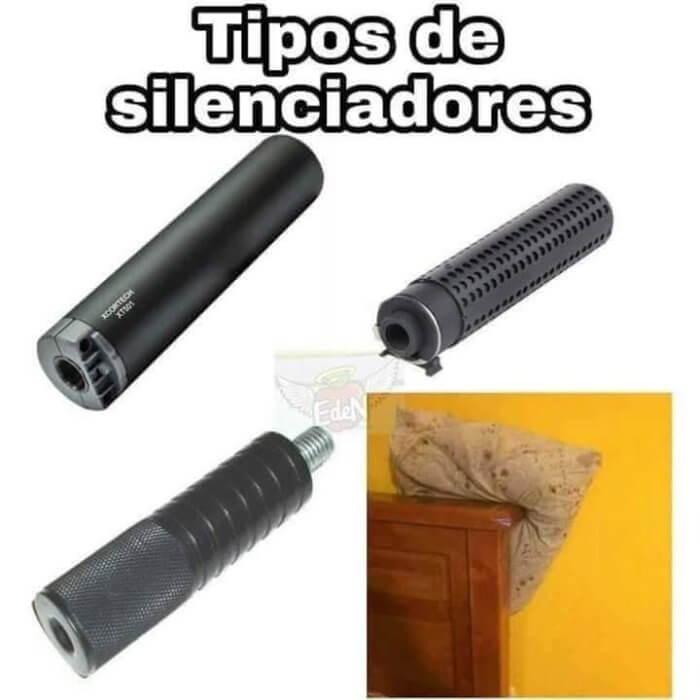 Diferentes tipos de silenciadores