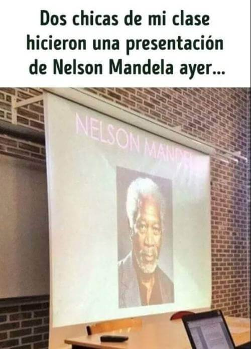 Dos chicas hicieron una presentacion sobre Nelson Mandela