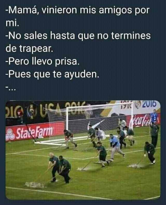 No sales hasta que termines de trapear