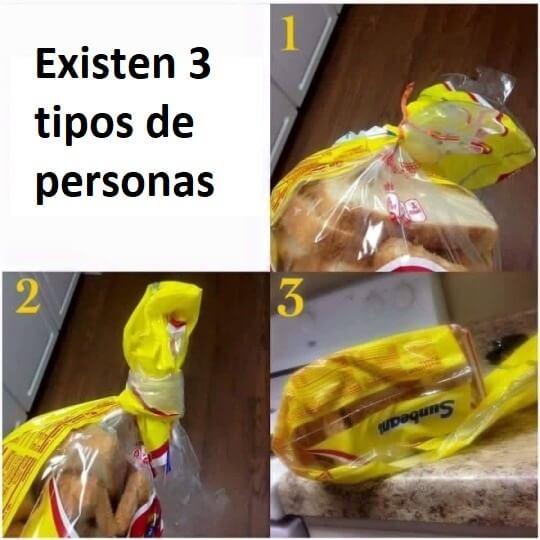 Existen tres tipos de personas