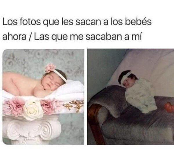 Las fotos que les sacan a los bebes
