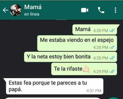 Que piensa mi Madre de mi